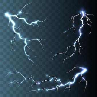 Tempête et éclairs isolés