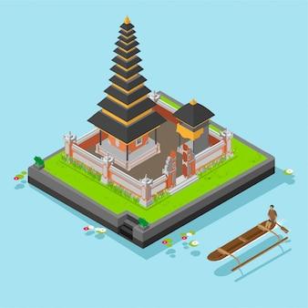 Temple isométrique d'ulun danu