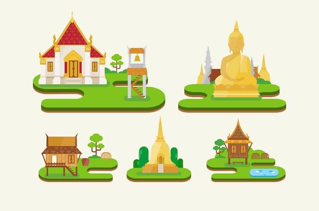 Temple en thaïlande