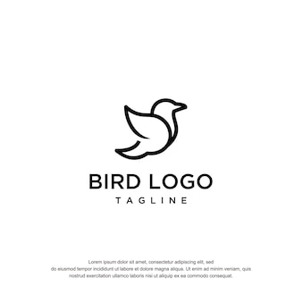 Templete de conception de logo d'oiseau