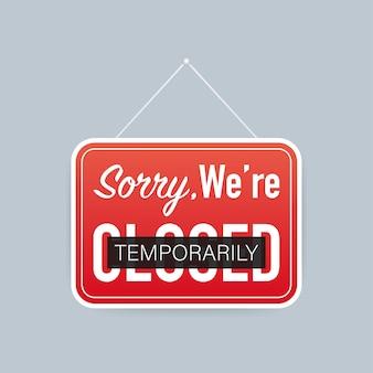 Temporairement fermé, grand design pour toutes fins