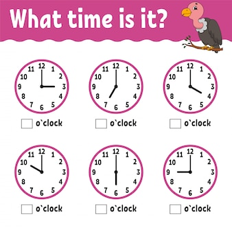 Temps d'apprentissage sur l'horloge.