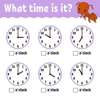 Temps d'apprentissage sur l'horloge