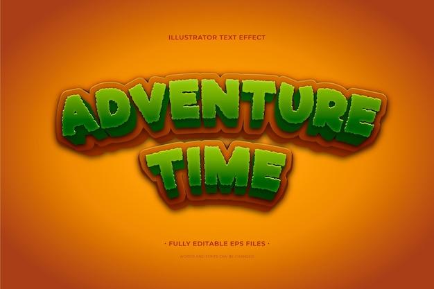Temps d'aventure avec effet de texte