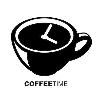 Temps de café logo vectoriel