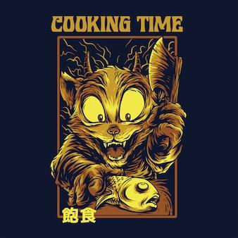 Temps de cuisson remasterisé illustration