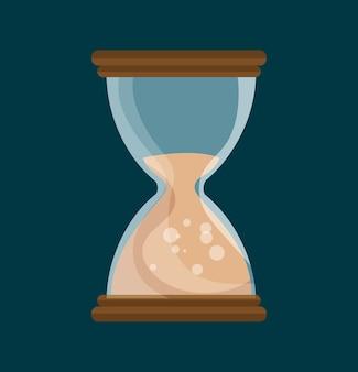 Temps de sablier isolé icône de conception d'illustration vectorielle