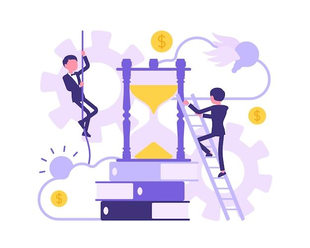 Temps, devoirs pour les gens d'affaires