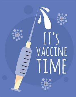 Temps d'injection du vaccin