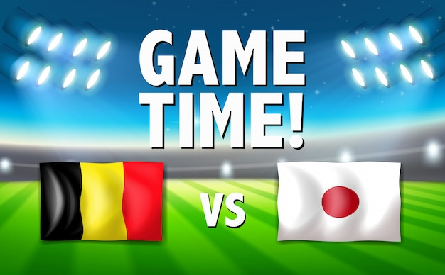 Temps de jeu belgique vs japon