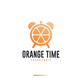 Temps orange, vitamine, inspiration de conception de logo