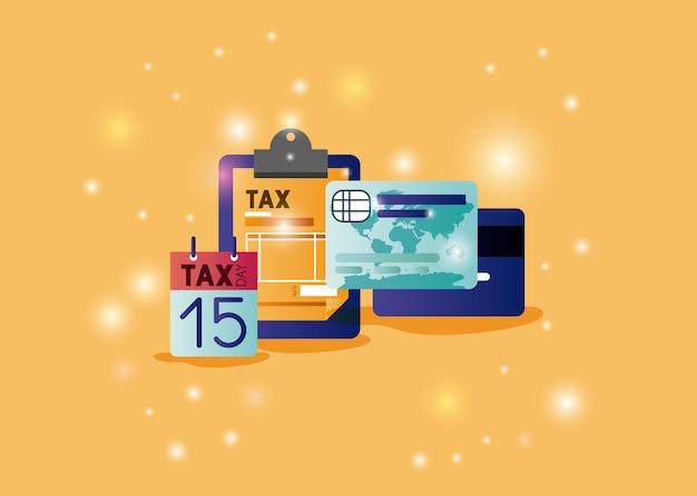 Temps de taxation défini icônes