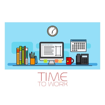 Temps de travail bannière horizontale