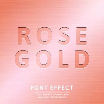Tendance 3d effet de texte de timbre doré rose style graphique