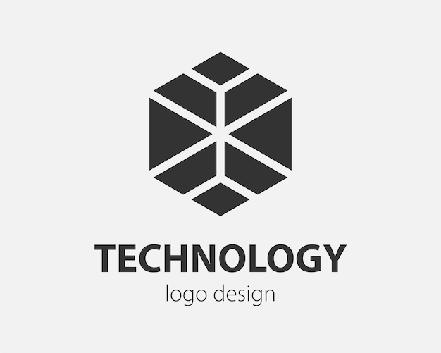 Tendance conception de technologie hexagonale vecteur logo. logotype de technologie pour système intelligent, application réseau, icône crypto.