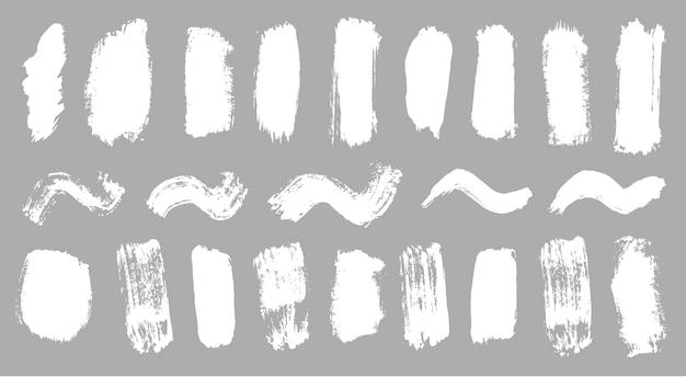 Tendance coup de pinceau encre blanche peinture grunge toile de fond saleté bannière peint vecteur aquarelle