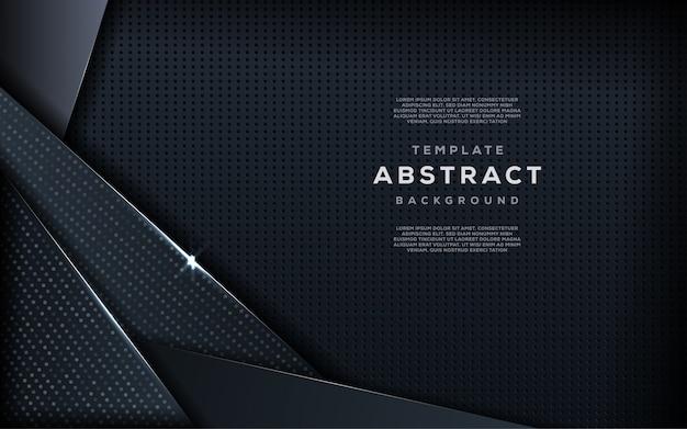 Tendance créative abstraite de fond sombre se chevauchent avec des paillettes argentées