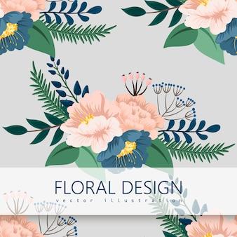 Tendance floral seamless pattern dans