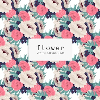 Tendance floral seamless pattern