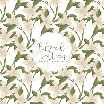 Tendance motif floral sans soudure en illustration vectorielle