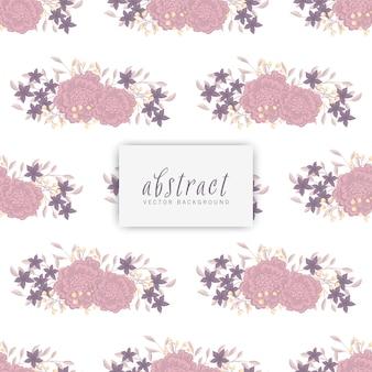 Tendance motif floral sans soudure en illustration vectorielle