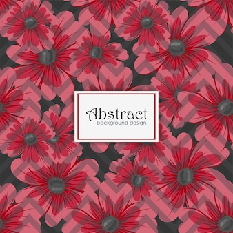 Tendance motif floral sans soudure en vecteur