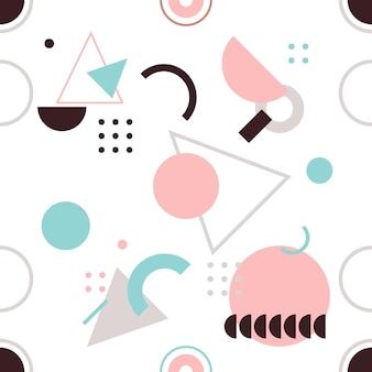 Tendance motif géométrique sans couture, illustration vectorielle avec des figures géométriques. concevoir des arrière-plans pour l'invitation, la brochure et le modèle de promotion.