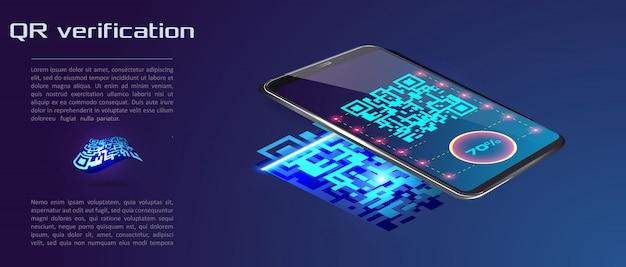 Tendance smartphone vecteur isométrique
