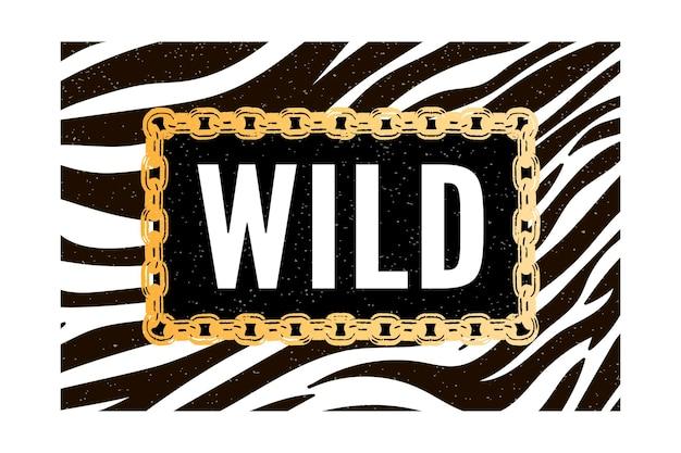 Tendance zèbre sauvage avec des signes de tigre