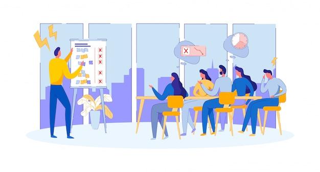 Tenir une réunion d'affaires. présentation du projet.