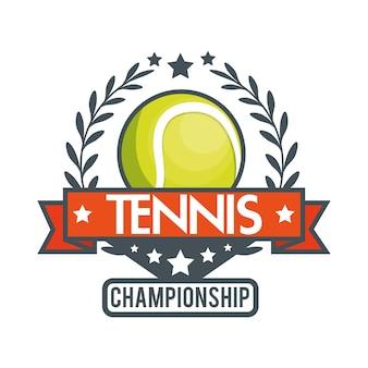 Tennis championnat balle star banne