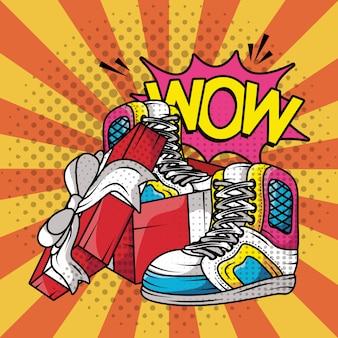 Tennis chaussures de sport style pop art