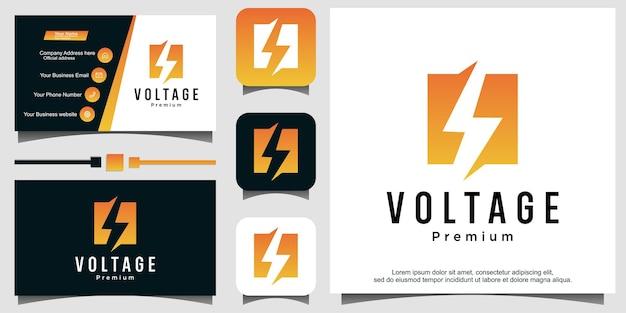 Tension volt bolt flash logo graphique