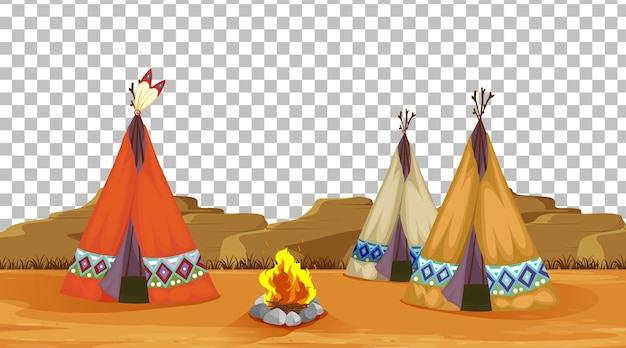 Tente et camping feu