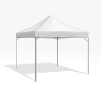 Tente chapiteau mobile pour salon.
