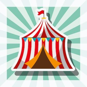 Tente de cirque carnaval rétro amusement foire festival