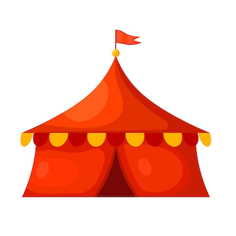 Tente de cirque de dessin animé