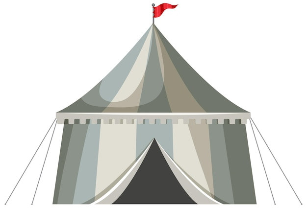 Tente pavillon à rayures médiévales isolée
