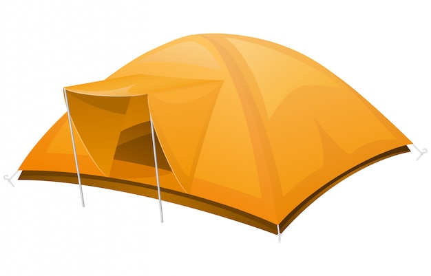 Tente touristique.