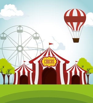 Tentes de cirque funfair divertissement