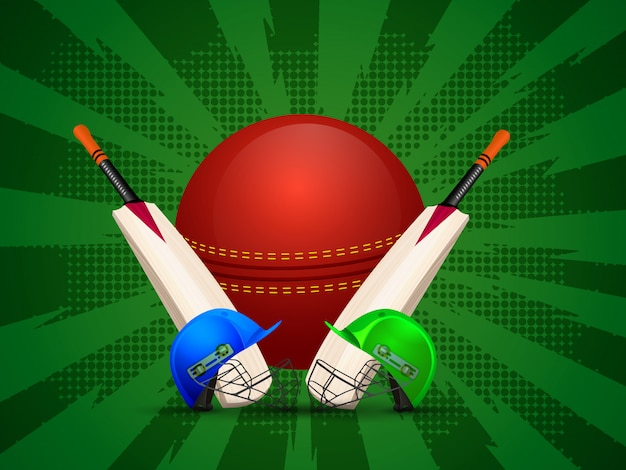 Tenue de cricket avec balle et batte