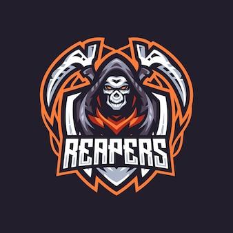 Teplate de vecteur pour le logo reaper esport