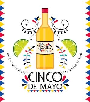 Tequila au citron à l'événement traditionnel mexicain
