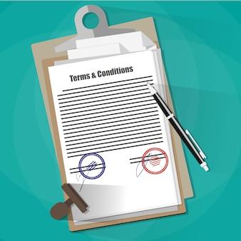 Termes et conditions accord juridique.