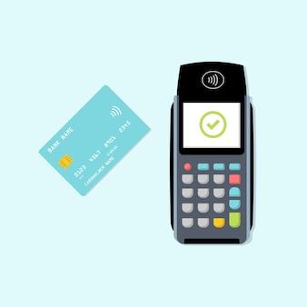 Terminal de paiement avec carte.