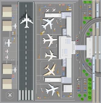 Terminal passagers de l'aéroport
