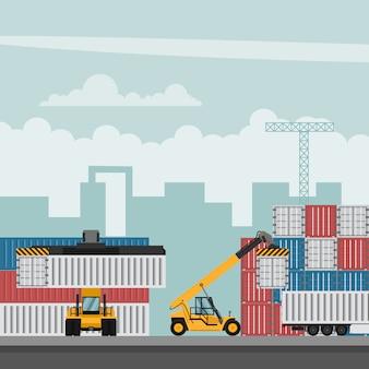 Terminal portuaire conteneur