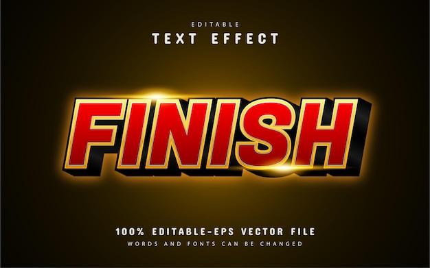 Terminer l'effet de texte avec un dégradé rouge