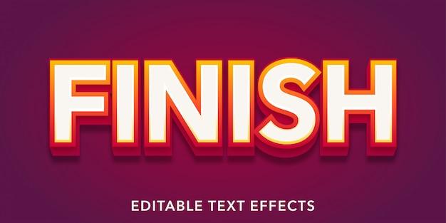 Terminer les effets de texte modifiables