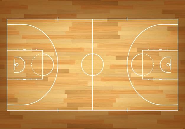 Terrain de basket sur le dessus.